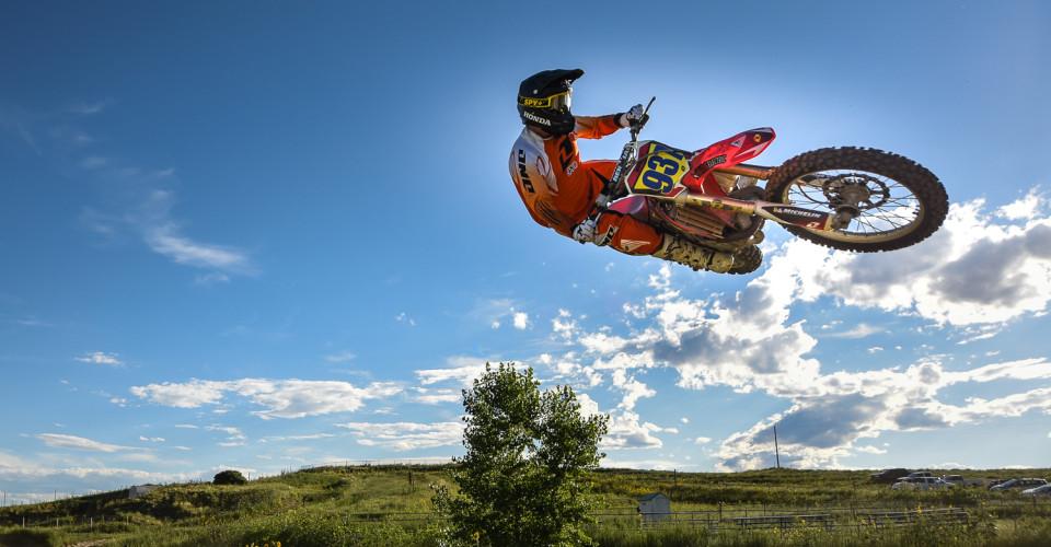 Motocross Rider In Flight