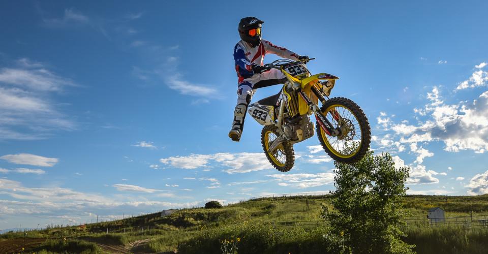 Motocross Straddle Jump
