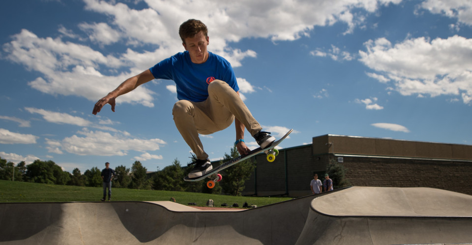 Skateboarder Catching Air