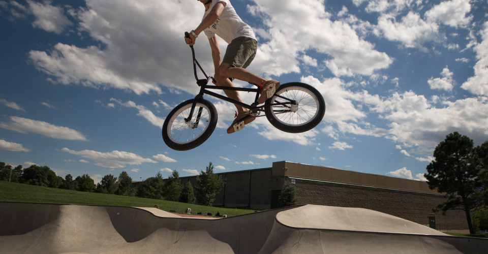 BMX Cyclist in Air