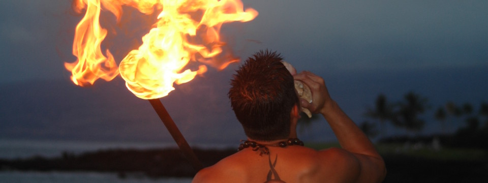 Torch Lighting on the Big Island
