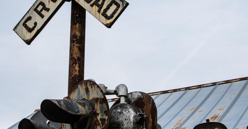 Old Railroad Crossing Signal