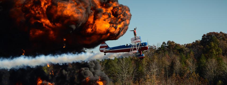 Airshow Stunt Wingwalker